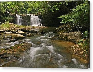 Mill Creek Falls  West Virginia Canvas Print by Ulrich Burkhalter