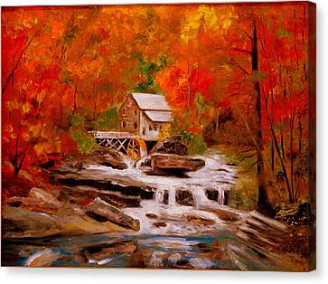 Mill Creek Canvas Print by Phil Burton
