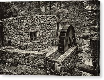 Old Mills Canvas Print - Mill Creek Water Wheel by Bill Cannon
