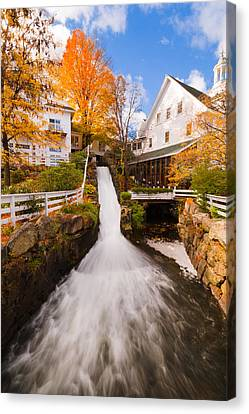 Canvas Print featuring the photograph Mill Falls by Robert Clifford