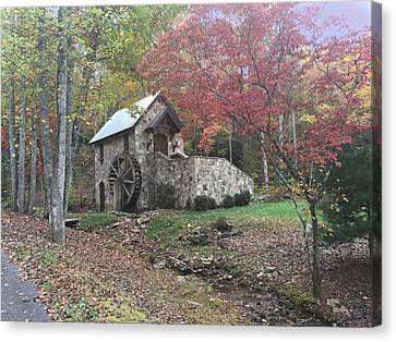 Mill House By Road Canvas Print by Ruth M Harris