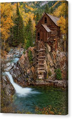 Mill In The Mountains Canvas Print by Darren White