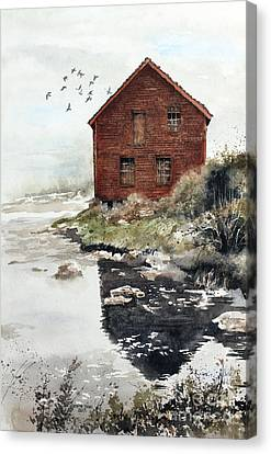 Mill Pond Canvas Print by Monte Toon