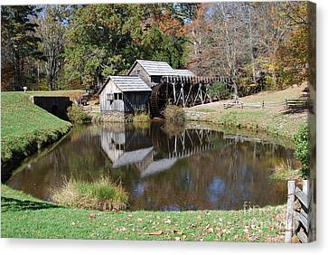 Canvas Print featuring the photograph Mill Reflections by Eric Liller