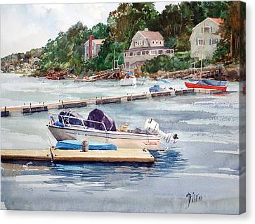 Mill River Gloucester Canvas Print by Peter Sit