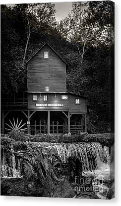 Old Mills Canvas Print - Mill Stream - Evening by Robert Frederick