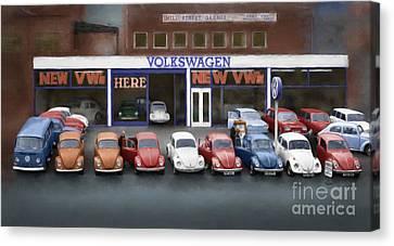 Mill Street Volkswagen Garage - 1970's Canvas Print