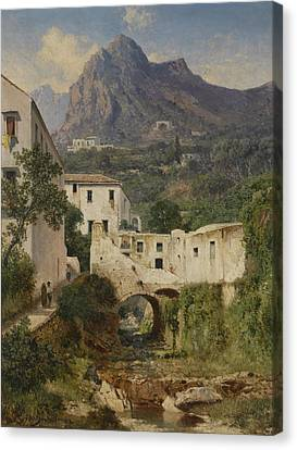 Mill Valley Near Amalfi Canvas Print by Celestial Images