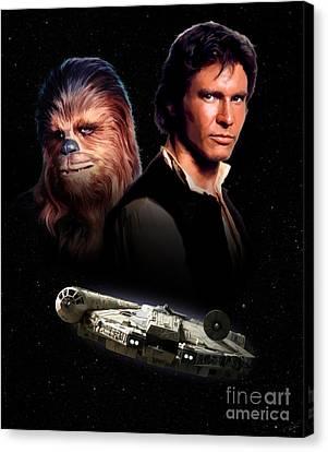 Han Solo - Millenium Falcon Canvas Print by Paul Tagliamonte