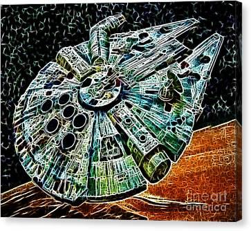 Millenium Falcon Canvas Print by Paul Ward