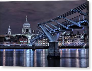 Millennium Bridge - London Canvas Print by Joana Kruse