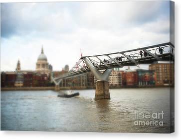 Millennium Bridge Over Thames Canvas Print