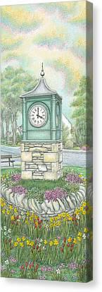 Millennium Clock  Endmoor  Cumbria Canvas Print by Sandra Moore
