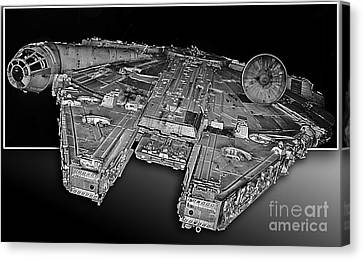 Millennium Falcon Attack Canvas Print