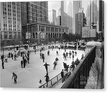 Millennium Skate Canvas Print by David Bearden
