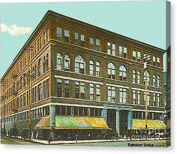 Miller Bros. Department Store In Chattanooga Tn In 1910 Canvas Print by Dwight Goss