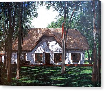 Canvas Print featuring the painting Miller Homestead by Tom Roderick
