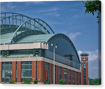 Miller Park - Home Of The Brewers - Milwaukee - Wisconsin Canvas Print by Steven Ralser