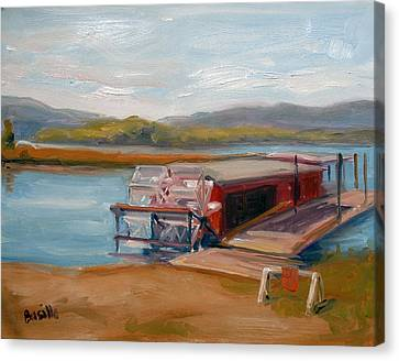 Millersburg Ferry Canvas Print by Kathy Busillo