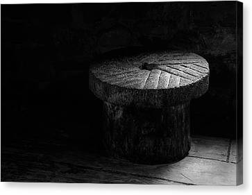 Millstone In Bw Canvas Print by James Barber