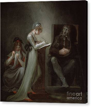 Milton Dictating To His Daughter Canvas Print by Henry Fuseli