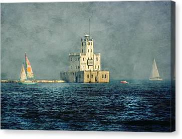 Milwaukee Breakwater Lighthouse Canvas Print by Susan McMenamin