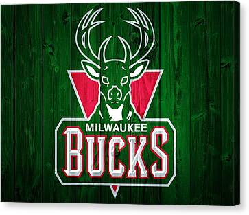 Milwaukee Bucks Barn Door Canvas Print by Dan Sproul