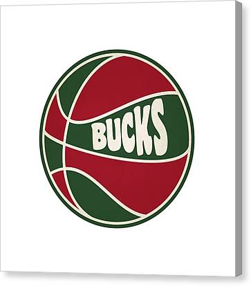 Milwaukee Bucks Retro Shirt Canvas Print