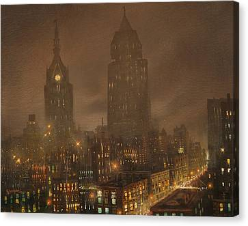 Milwaukee Fog Canvas Print by Tom Shropshire