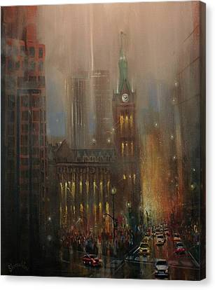 Milwaukee Rain Canvas Print by Tom Shropshire