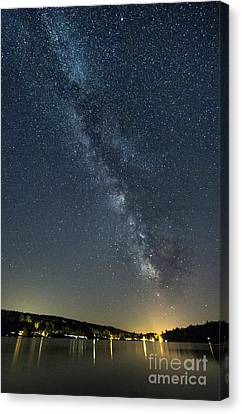 Milky Way From A Pontoon Boat Canvas Print