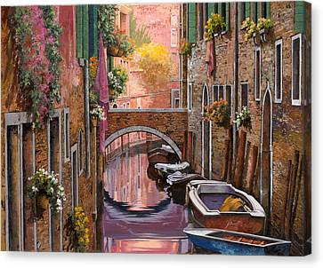 Grand Canal Canvas Print - Mimosa Sui Canali by Guido Borelli