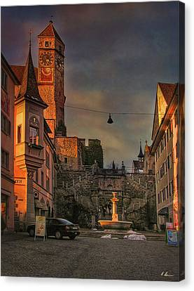 Canvas Print featuring the photograph Main Square by Hanny Heim