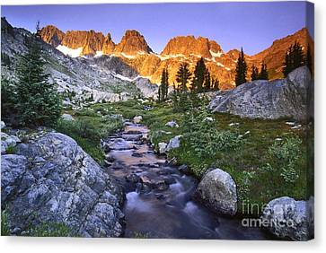Beautiful Creek Canvas Print - Minaret Morning by Buck Forester