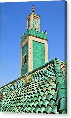 Minaret Of Grand Mosque Canvas Print by Kelly Cheng Travel Photography