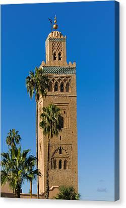 Minaret Of The Koutoubia Mosque, Marrakesh Canvas Print by Nico Tondini