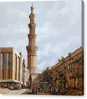 Minareto E Mercato Canvas Print