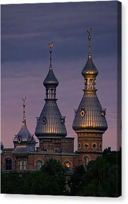 Minarets At Sunset - Henry B. Plant Museum Canvas Print by Chrystyne Novack