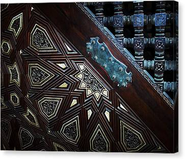 Minbar Detail Canvas Print by Debbie Oppermann