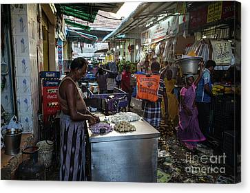 Canvas Print featuring the photograph Mincing Garlic by Mike Reid