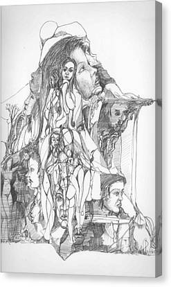 Mind And Body Canvas Print by Padamvir Singh