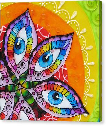 Mind Eyes - Detail Canvas Print by Gabriela Stavar