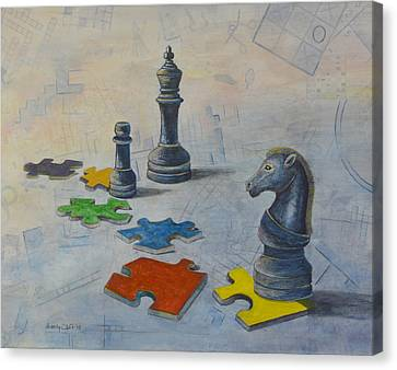 Mind Games Canvas Print by Sandy Clift