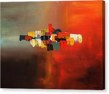 Canvas Print featuring the painting Mindful - Abstract Art by Carmen Guedez
