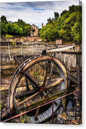 Mine Wheel Canvas Print by Adrian Evans