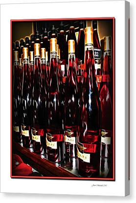 Canvas Print featuring the photograph Miner Pink Sparkling Wine by Joan  Minchak