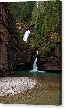 Canvas Print featuring the photograph Mineral Creek Falls by Steve Stuller