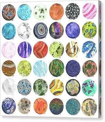 Mineral Marbles Canvas Print by Abigail Kramer