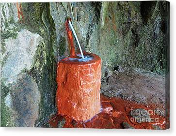 Mineral Water Spring - Drinking Fountain Canvas Print by Michal Boubin