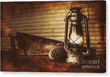 Miners Cottage Details Canvas Print